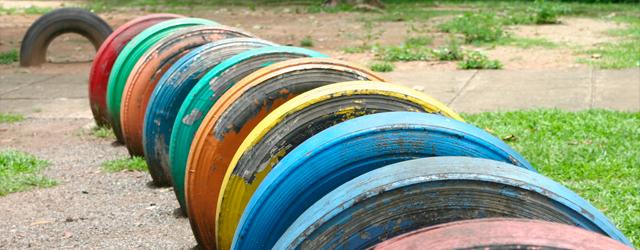 Ideias para reaproveitar os pneus Hipervarejo