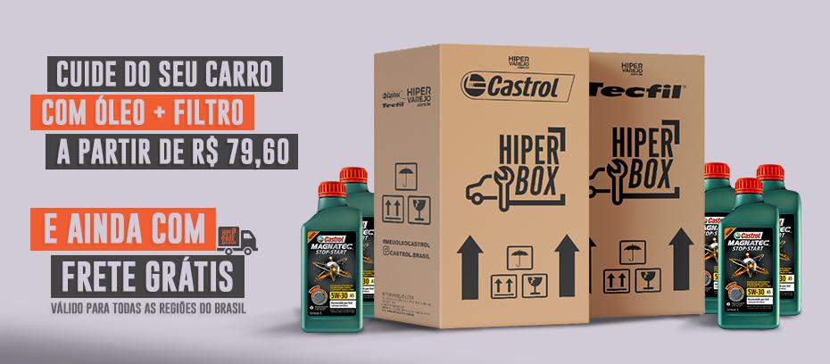 Caixas de óleo de motor Castrol