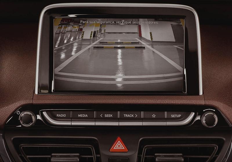 display do sensor de estacionamento
