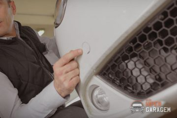 instalando sensor de estacionamento no carro